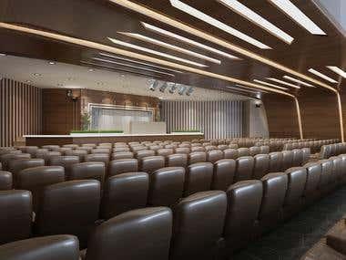 Interior design conference hall