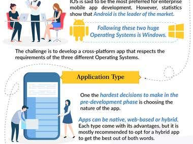 Mobile app infographics design
