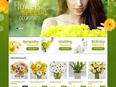 Flower shopping site