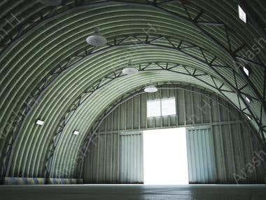 Modeling the jet fighter garage for mobile gaming