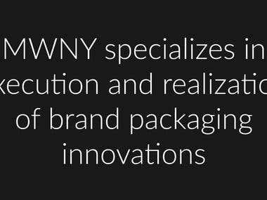 Video presentation for MWNY