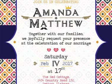 Design and visualization of wedding invitations