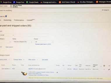Ebay listings and messages management