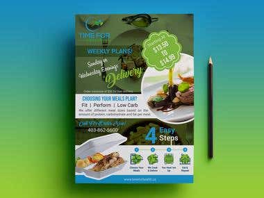 Flyer For Food Cart & Restaurants