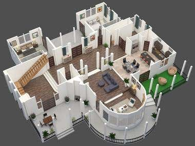 2D_3D_FLOOR PLAN INTERIOR