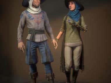 Mages NPCs(Game characters)