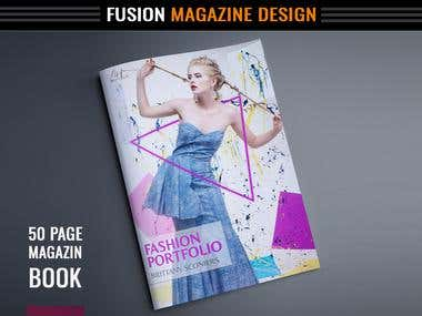 Magazine book design (10-50 page book)
