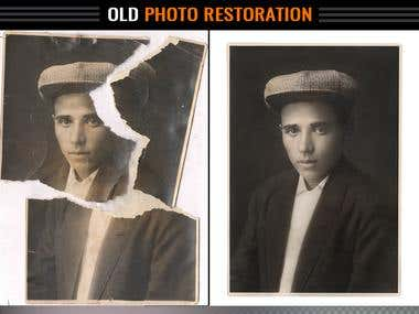 Digital photograph restoration (any old image)