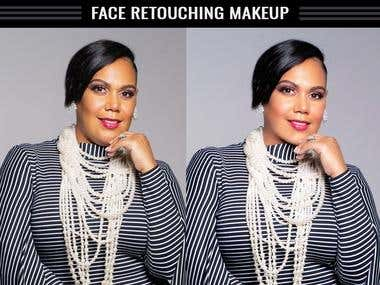 Face retouching and makup