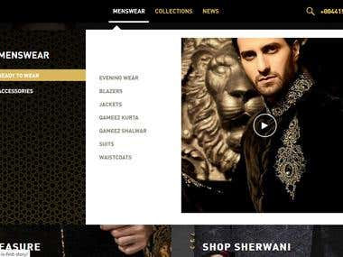 Adambaksh Clothing Brand - Wordpress Shopping Website