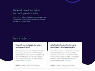 ReactJS Web App
