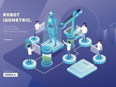 robot isometric