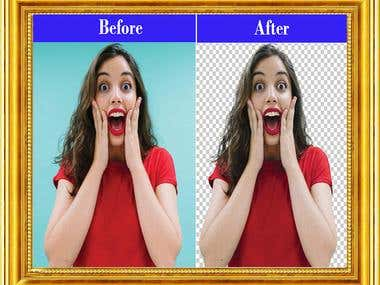 Haircut background removal
