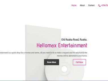 Hellomax Entertainment Website
