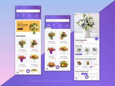 Flower Store App Concept UX/UI Design