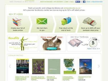 textbooks rent service built on oscommerce platform
