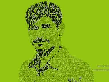 Text Portrait Photo