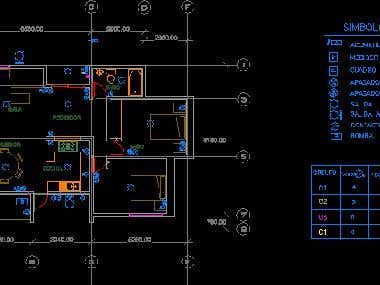 CAD layout for house