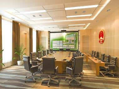 board room 3d modle