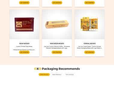 Oxo Packaging Website