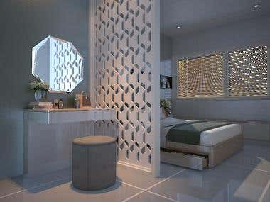 bedroom & dressing area design