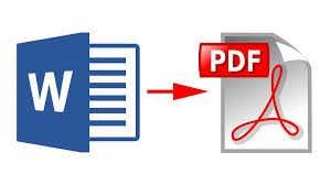 convert words to PDF sample