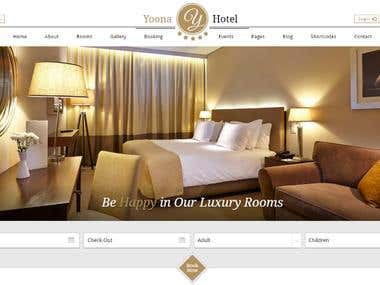 MY HOTEL BOOKING WORDPRESS WESBITE