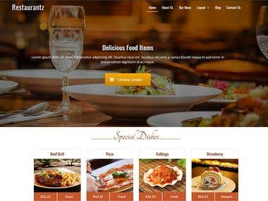 MY FOOD RESTAURANT WORDPRESS PROJECT