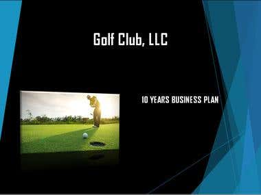 Business plan and 10 year financials forecast.
