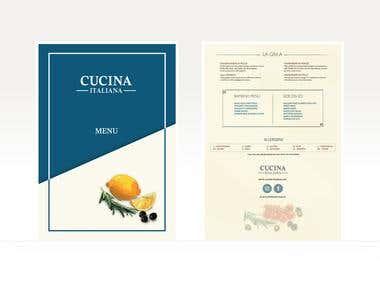 Cucina Italian Menu