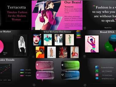Powerpoint presentation for fashion brand