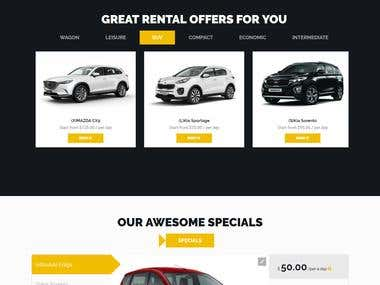 Car rental website with Woocommerce