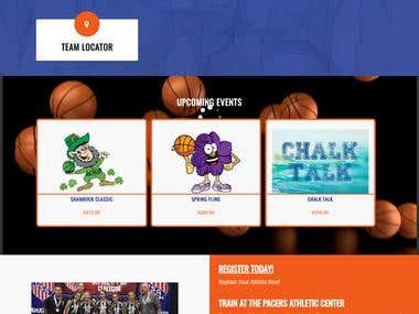 Custom Basketball Website with Online Booking