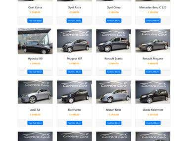 AutoScout24 API Parser - Custom ADS LISTING SHOWCASE