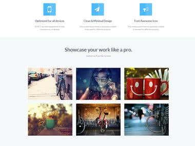 WEb site theme design