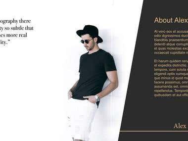 Artist's profile portfolio/presentation