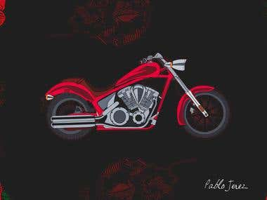 Custom chopper artwork
