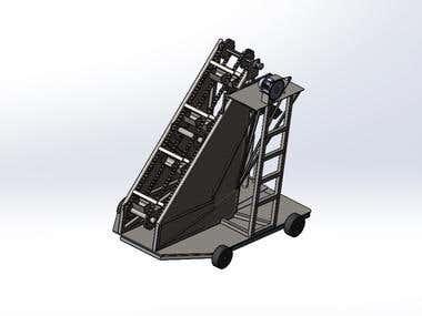 Sand loading machine