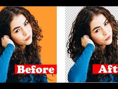 retouch and edit your photo with your ideas