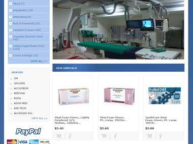 opencart shop for medical and dental products