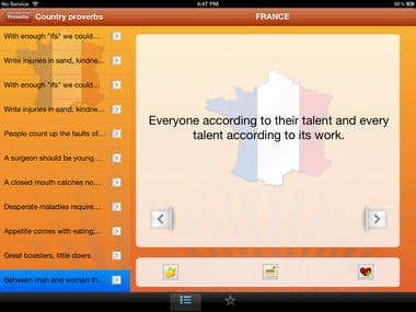 Cultural Proverbs for iPad