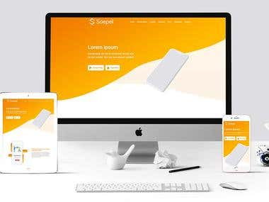 Soepel Mobile App Landing Page