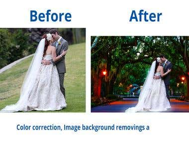 Image Background Removing and Color Correction