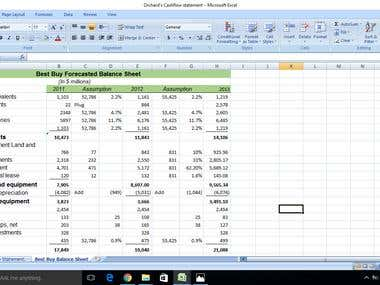 Forecasted Financial Statement