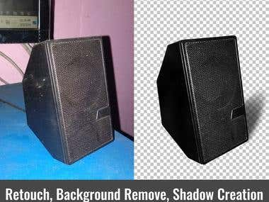 PRODUCT RETOUCH BACKGROUND REMOVE AND SHADOW CREATION