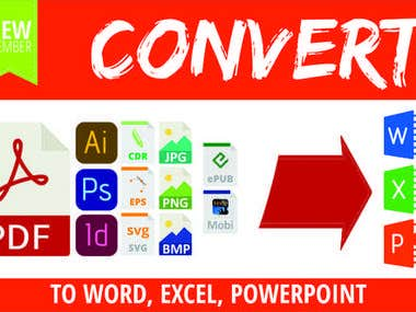 PDF to word,excel,power point,images