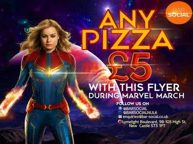 Poster for pizza advertisement