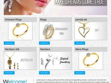 Jewellery Shopify website