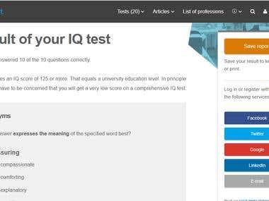 IQ Test @ 123test.com