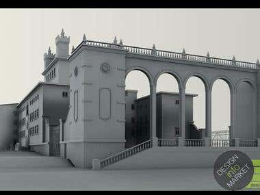 Projection, modeling, rendering, exhibition stands, 3d model